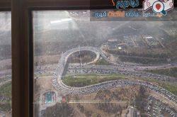 برج میلاد - مسیر خروجی برج میلاد- نمایی از داخل برج - سایت کجا بریم